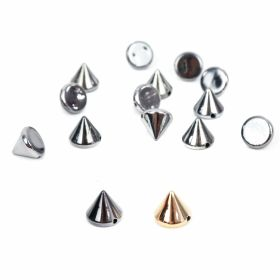 Tinte Plastic Sew-on Studs, 9.8 mm, Silver (100 pcs/pack )