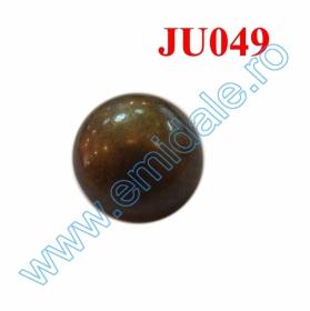 Nasturi Metalizati cu Patru Gauri  S507/40 (100 buc/pachet) Nasture Plastic Metalizat JU049, Marime 18, Antic Brass (100 buc/punga)