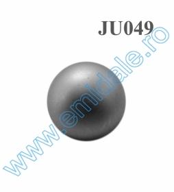 Nasturi Metalizati, cu Picior, din Plastic, marime 40 (144 bucati/pachet) Cod: B6307 Nasture Plastic Metalizat JU049, Marime 18, Argintiu (100 buc/punga)
