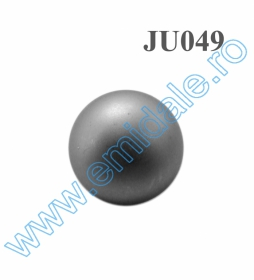 Nasturi cu Patru Gauri N714/18 (100 buc/pachet) Nasture Plastic Metalizat JU049, Marime 28, Argintiu (100 buc/punga)