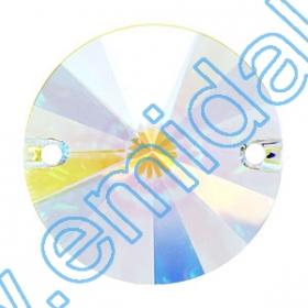 Cristale de Cusut 3200, Marime: 12mm, Culoare: Crystal (72 buc/pachet)  Sewing Crystals 3200, Size: 18 mm, Color: Crystal-AB (72 pcs/pack)