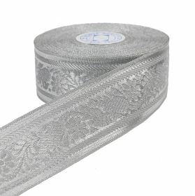 Pasmanterie, latime 38 mm, Argintie (16.4 m/rola) Pasmanterie, latime 38 mm, Argintie (16.4 m/rola)