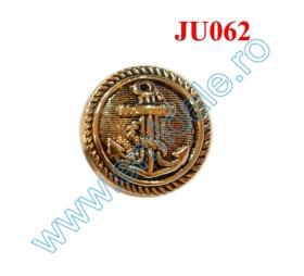 Nasture Plastic Metalizat JU049, Marime 28, Antic Brass (100 buc/punga)  Nasture Plastic Metalizat JU062, Marime 34, Auriu (100 buc/punga)