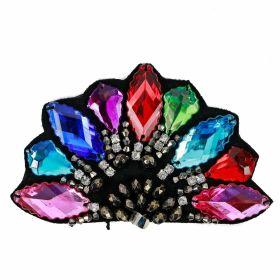 Aplicatii cu Cristale/Strasuri Aplicatii Vestimentare, Multicolore, lungime 12 cm (4 bucati/pachet)