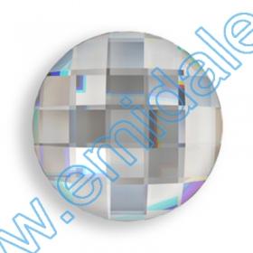 Cristale de Lipit 2493, Marime: 8 mm, Culoare: Light Siam (216 buc/pachet )   Cristale fara Adeziv 2035, Marimea: 20 mm, Culoare: Crystal (40 buc/pachet)