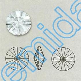 Nasturi 3015, Marimea: 18 mm, Culoare: Crystal (24 buc/pachet)  Nasturi 3015, Marimea: 12 mm, Culoare: Crystal (48 buc/pachet)