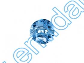 Cristale de Lipit 2720, Marimea: 9 mm, Culoare: Light Siam (180 buc/pachet)  Nasturi 3016, Marimea: 12 mm, Culoare: Aquamarine (48 buc/pachet)