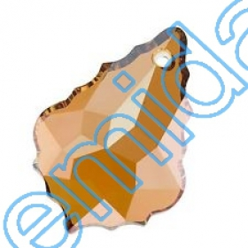 Cristale fara Adeziv 2035, Marimea: 20 mm, Culoare: Crystal Bermuda Blue (40 buc/pachet)  Pandant 6091, Marimea: 50 mm, Culoare: Crystal Copper (6 buc/pachet)