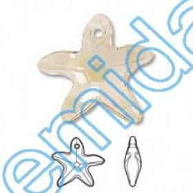 Cristale de Cusut 5020, Marimea: 8 mm, Culoare: Golden Shadow (288 buc/pachet)  Pandant 6721, Marimea: 16 mm, Culoare: Silk  (72 buc/pachet)
