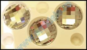 Cristale de Lipit  2493, Marimea: 10 mm, Culoare: Aquamarine (144 buc/pachet)  Cristale fara Adeziv 2035, Marimea: 40 mm, Culoare: Crystal Comer Argent Light (6 buc/pachet)