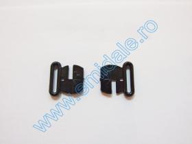 Inchizatori Sutien, 20 mm (50 perechi/pachet)Cod: MGT20 Inchizatori Sutien, 15 mm, Negru (100 bucati/pachet)