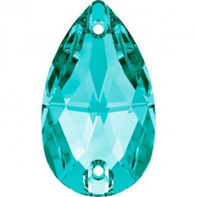 Oferta la 1.5 Lei + TVA Cristale de Cusut Swarovski, 12x7 mm, Culoare: Blue Zircon (1 bucata)Cod: 3230