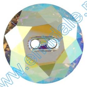 Cristale Metraj Swarovski 40301/004 (10 m/rola) Nasturi 3014, Marimea: 30 mm, Culoare: Crystal-AB (12 buc/pachet)