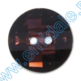Cristale de Lipit 2493, Marime: 8 mm, Culoare: Light Siam (216 buc/pachet )   Nasturi  3016, Marimea: 12 mm, Culoare: Burgundy (48 buc/pachet)