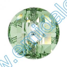 Cristale fara Adeziv 2035, Marimea: 20 mm, Culoare: Crystal (40 buc/pachet)  Nasturi 3016, Marimea: 12 mm, Culori: Chrysolite  (48 buc/pachet)