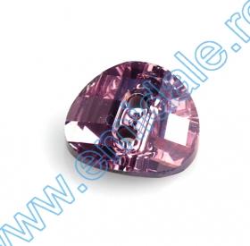 Cristale de Lipit  2797, Marimea: 10x5 mm, Culoare: Jet (180 buc/pachet)  Nasturi 3016, Marimea: 12 mm, Culori: Light Ametist (48 buc/pachet)