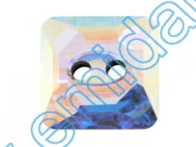 Pandant 6735, Marimea: 45x28 mm, Culoare: Crystal (6 buc/pachet)  Nasturi 3017, Marimea: 12 mm, Culoare: Crystal-AB (48 buc/pachet)