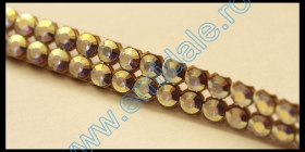 Cristale fara Adeziv 2035, Marimea: 40 mm, Culoare: Crystal Bermuda Blue (6 buc/pachet) Cristale Metraj Swarovski 40101/002, Culoare: CRY-AB (10 m/rola)