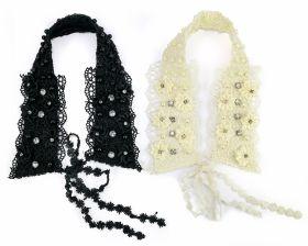 Aplicatie Textila, lungime 18 cm (3 buc/pachet) Cod: M6081 Guler Decorativ, Bej, Negru (4 bucati/culoare/ pachet) cod: 0624-7156