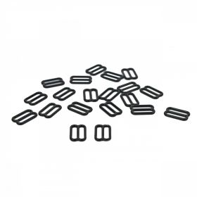 Inele, Reglori, Inchizatori Reglor Sutien, 12 mm, Negru (100 bucati/pachet)