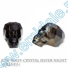 Margele - 5020 Margele Swarovski Elements  5750, Marime: 19 mm, Culoare: CRYAB (12 buc/pachet)