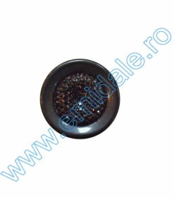 Nasture Plastic Metalizat JU049, Marime 18, Argintiu (100 buc/punga)  Nasturi cu Picior AHS949, Marimea 36, Negri (144 buc/pachet)