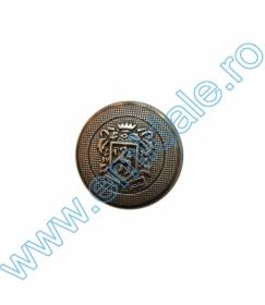 Nasturi Metalizati cu Picior  S630/40 (50 buc/pachet) Nasturi cu Picior AHWS050, Marime 24 (144 buc/pachet)