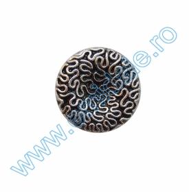Nasture Plastic Metalizat JU932, Marimea 40, Antic Brass (100 buc/punga)  Nasturi cu Picior FB756, Marimea 40 (144 buc/pachet)