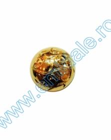 Nasturi Metalizati, cu Picior, din Plastic 21mm (100 bucati/pachet) Cod: 3166  Nasturi cu Picior PL020, Marime 40, Aurii (144 buc/pachet)