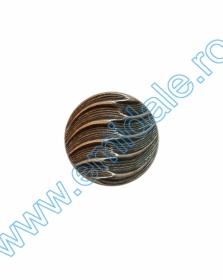 Nasturi Metalizati, cu Picior, din Plastic 25mm (100 bucati/pachet) Cod: 3166  Nasturi cu Picior PL034, Marimea 24, Arginti (144 buc/pachet)