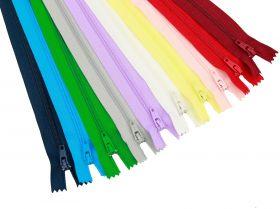 Fermoare Polyester Fixe Fermoare Fixe, Nedetasabile, spira 3 mm, lungime 50 cm (100 bucati/pachet)
