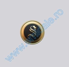 Nasturi Metalizati, cu Picior, din Plastic  25mm (100 bucati/pachet) Cod: 2123 Nasturi cu Picior S597, Marimea 24 (100 buc/pachet)