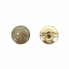 Nasture Plastic Metalizat JU049, Marime 28, Antic Brass (100 buc/punga)  Nasturi cu Picior S635, Marimea 24 (100 buc/pachet)