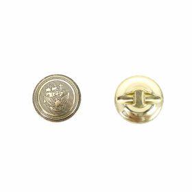 Nasture Plastic Metalizat JU829, Marimea 34, Antic Brass (100 buc/pachet)  Nasturi cu Picior S635, Marimea 36 (100 buc/pachet)
