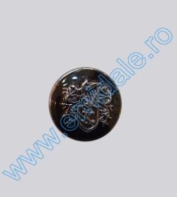 Nasturi Metalizati, cu Picior, din Plastic 21mm (100 bucati/pachet) Cod: 3166  Nasturi cu Picior S738, Marimea 40 (100 buc/pachet)
