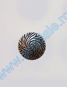 Nasture Plastic Metalizat JU895/40 (100 buc/punga) Nasturi cu Picior H1626, Marimea 24 Lin (100 buc/pachet)