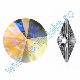 Pandant 6190, Marimea: 35 mm, Culoare: Crystal (18 buc/pachet)  Nasturi 3015, Marimea: 18mm, Culoare: Crystal-Alb (24 buc/pachet)