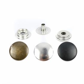 Capse Capse din Metal, 15 mm, Nickel, Antic-brass, Black-oxid (1.000 seturi/pachet)