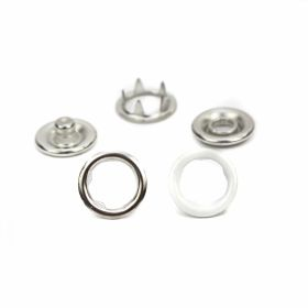 Capse Sistem S Spring, 15 mm, Nickel, Antic-brass, Black-oxid, Brass (1.000 seturi/pachet) Capse din Metal, 9.5 mm, Nickel (1.000 seturi/pachet)