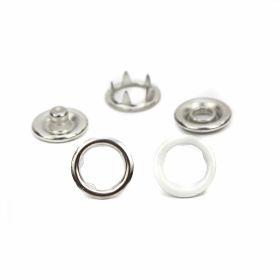 Capse din Metal, 10.5 mm, Nickel (1.000 seturi/pachet) Capse din Metal, 9.5 mm, Nickel (1.000 seturi/pachet)