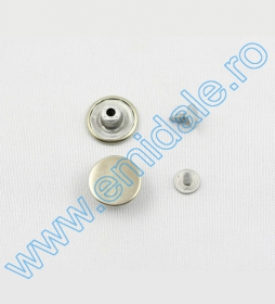 Butoni  Jeans, 14 mm, Antic-brass, Brass, Black-oxid, Nickel (1000 seturi/pachet) Butoni  Jeans, 14 mm, Antic-brass, Brass, Black-oxid, Nickel (1000 seturi/pachet)