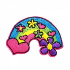 Embleme Termoadezive ( 10 bucati/pachet) Cod: 390678 Embleme Termoadezive, Curcubeu (12 bucati/pachet)Cod:4249