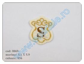 Embleme Termoadezive, Model Inima (12 buc/pachet)Cod: M131  Embleme Termoadezive 8069 (12 bucati/pachet) Culoare: 836