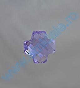 Oferta Speciala Pandantive Swarovski Elements 6862, Marimea: 28mm, Culoare: Violet (24 buc/pachet)