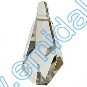 Oferta Speciala Pandantive Swarovski Elements 6015, Marimea: 50mm, Culoare: Crystal Silvershade (6 buc/pachet)