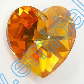 Oferta Speciala Pandantive Swarovski Elements 6202, Marimea: 18x17.5mm, Culoare: Topaz AB (72 buc/pachet)