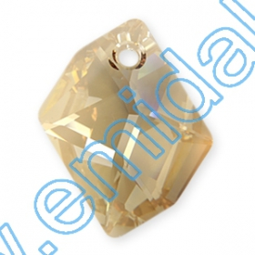 Oferta Speciala Pandantive Swarovski Elements 6680, Marimea: 20mm, Culoare: Crystal Golden Shadow (72 buc/pachet)