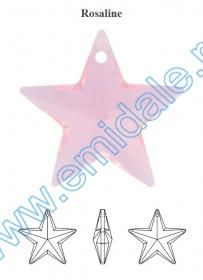 Swarovski Elements - 6040 (20 bucati/pachet) Culoare: Jet Pandantive Swarovski Elements - 6714-MM20 (48 bucati/pachet) Culoare: Rosaline