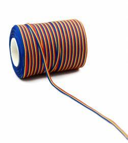 Banda Tricolor, latime 130 mm (50 metri/rola) Banda Tricolor, latime 5 mm (100 metri/rola)