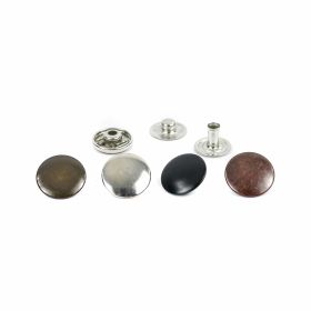 Capse din Metal, 10.5 mm, Nickel (1.000 seturi/pachet) Capse din Metal, 15 mm, Nickel, Antic-brass, Black-oxid (1.000 seturi/pachet)